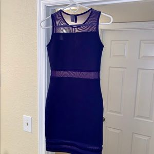 Divided Sheer Cutouts and Body-Con Dress EUC